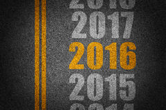 New year and future on asphalt Royalty Free Stock Photography