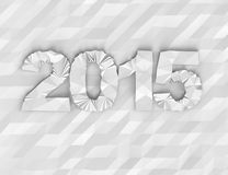 New year 2015 geometric design. Geometric design year 2015 polygonal background Royalty Free Stock Photo