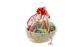 New year gift basket Stock Images