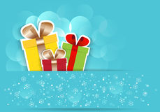 New Year gift box.Vector EPS 10. Royalty Free Stock Photography