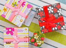 New Year gift boxes Royalty Free Stock Photo