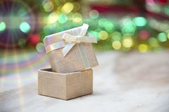 New Year gift boxes, Gradient background Royalty Free Stock Image
