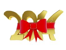 New year 2014 gift. 3d Illustrations on a white background Stock Illustration