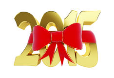 New year 2015 gift. 3d Illustrations. On a white background Stock Photo