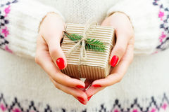 New year gift Stock Photo