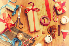 New Year gift packaging Royalty Free Stock Images