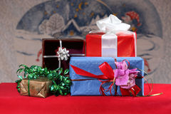 New year gifts Stock Photos