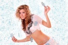 New year girl Royalty Free Stock Photos