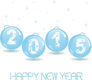 New Year Glass baubles. Stock Image