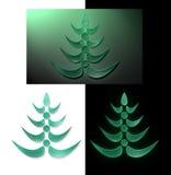New year glass tree Stock Photos