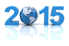 New year 2015 with globe Royalty Free Stock Photos