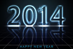 New year 2014 glow Stock Photography