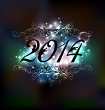 New Year glowing night background Royalty Free Stock Photo