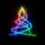 New year glowing tree Royalty Free Stock Image
