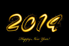 New Year glowing. Vector 2014 new year glowing Royalty Free Stock Images