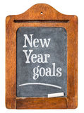 New Year goals  on  blackboard Royalty Free Stock Photos