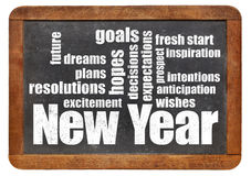 New Year goals. plans and expectations Royalty Free Stock Images