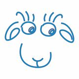 New year goat 2015. New year of a blue goat 2015 royalty free illustration