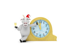 2015 New Year Goat Clock Stock Photos
