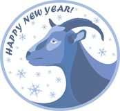 New year goat 2015. Illustration with New Year 2015 symbol of a goat Stock Image
