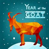 New year of goat. Vector vector illustration