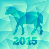 New Year of the Goat or Sheep 2015, polygonal geometric pattern. Chinese astrological sign. Vector illustration Royalty Free Stock Photos