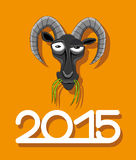 New 2015 year of goat. Vector illustration. New 2015 year of goat Vector Illustration