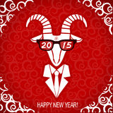 New year goat wear in business suit and glasses. Royalty Free Stock Photo
