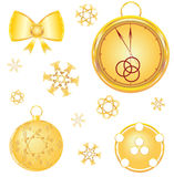 New year  gold  attributes Stock Images