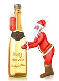 New Year Gold Champagne wine Stock Photography