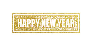 New Year 2017 gold foil textured banner. Stock Photography