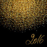 New Year 2016. Gold glitter background for New Year 2016 celebration design stock illustration