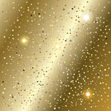 New Year gold glitter confetti and sparkles texture Royalty Free Stock Image