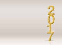 2017 new year gold glitter number in studio room, Leave space fo. R adding your design Royalty Free Stock Image