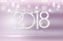 2018 New Year Gold Glossy Background. Vector Illustration Stock Photography