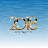 2018 New Year Gold Glossy Background. Vector Illustration Stock Photos