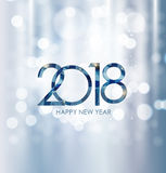 2018 New Year Gold Glossy Background. Vector Illustration Royalty Free Stock Photos