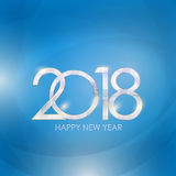 2018 New Year Gold Glossy Background. Vector Illustration Stock Photo