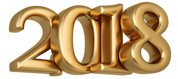 New 2018 year from gold Stock Photo