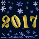 New year. Gold 2017 Royalty Free Stock Photo