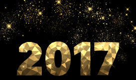 2017 New Year golden background. 2017 New Year black and golden background. Vector illustration Stock Image