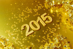 New Year 2015  golden background Royalty Free Stock Images