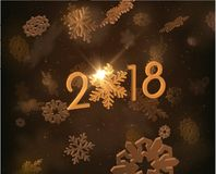 2018 New year background. Vector EPS10. Stock Image