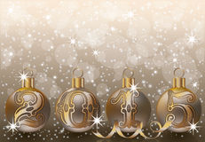 New 2015 year golden background Stock Images