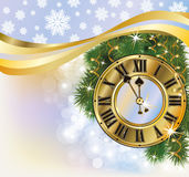 New Year golden background. Vector illustration Royalty Free Stock Image