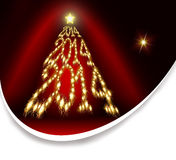 New Year 2014. Golden Christmas tree .New year 2014 stock illustration