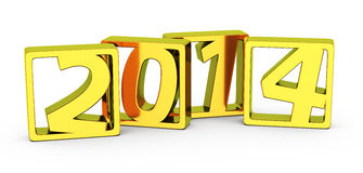 Golden 2014 frames Royalty Free Stock Photography