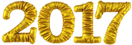 New 2017 year from golden fabric Royalty Free Stock Image