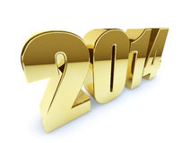 New 2014 year golden figures Royalty Free Stock Photo