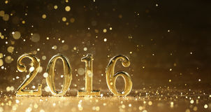 New year 2016. Golden 2016 for new year holidays Royalty Free Stock Photos
